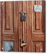 The Message Door Acrylic Print