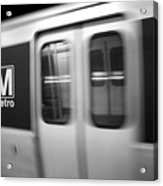 The Metro Is The Subway Train Acrylic Print