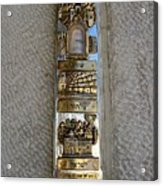 The Mezuzah At The Entry To The Kotel Plaza Acrylic Print