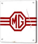 The MG Sign Acrylic Print