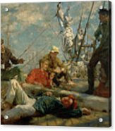The Midday Rest Sailors Yarning Acrylic Print