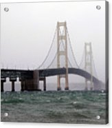 The Mighty Mackinaw Bridge Stands Strong Acrylic Print