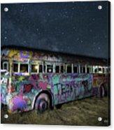 The Milky Way Bus Acrylic Print