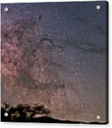 The Milky Way Core Acrylic Print