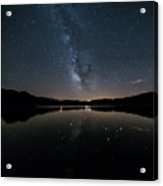 The Milky Way Over The Minho River Acrylic Print