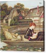 The Mill Acrylic Print by John Roddam Spencer Stanhope