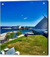 The Milwaukee Art Museum On Lake Michigan Acrylic Print