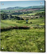 The Milwaukee Road Railroad Viaduct Near Rosalia Wa Dsc05095 Acrylic Print