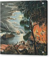 The Mississippi In Time Of War, 1865  Acrylic Print