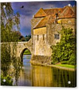The Moat At Leeds Castle Acrylic Print