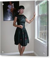 The Model And The Painting Acrylic Print