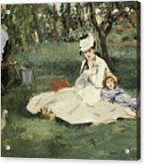 The Monet Family In Their Garden At Argenteuil Acrylic Print