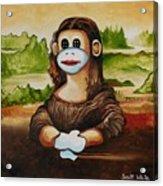 The Monkey Lisa Acrylic Print