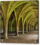 The Monks Cellarium, Fountains Abbey.  Acrylic Print