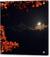 The Moon And Red Acrylic Print
