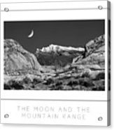 The Moon And The Mountain Range Poster Acrylic Print