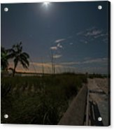 The Moonit Path To Fort Myers Beach Fort Myers Florida Acrylic Print