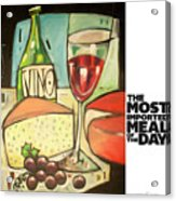 The Most Imported Meal Acrylic Print