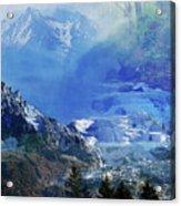 The Mountains Melting Snows Acrylic Print