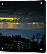 The Mouth Of The Columbia River Acrylic Print