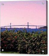 The Mt Hope Bridge Bristol Rhode Island Acrylic Print