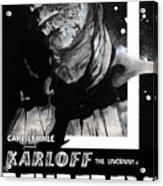The Mummy 1932 Movie Poster  Acrylic Print