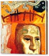 The Museum Of Mankind By Tube - Burlington Gardens - London Underground - Retro Travel Poster Acrylic Print