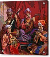 The Musicians Of Hajji Baba Acrylic Print by Eikoni Images