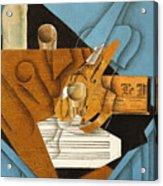 The Musician's Table Acrylic Print