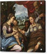 The Mystic Marriage Of Saint Catherine Acrylic Print