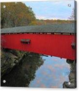 The Narrows Covered Bridge At Dusk Acrylic Print