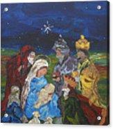 The Nativity Acrylic Print by Reina Resto