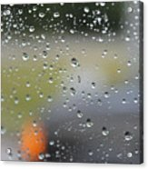 The Natural Lens That Is A Raindrop Acrylic Print