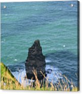 The Needle Off The Cliff's Of Moher In Ireland Acrylic Print