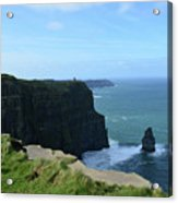 The Needle Rock Formation On The Cliff's Of Moher Acrylic Print