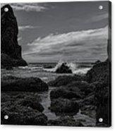 The Needles Black And White Acrylic Print