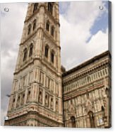 The Neo Gothic Facade Of The Duomo In Florence Acrylic Print