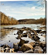 The New River At Whitt Riverbend Park - Giles County Virginia Acrylic Print