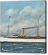 The New York Yacht Club Steam Yacht Vanadis At Sea Acrylic Print