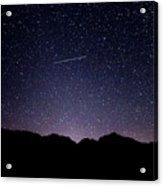 The Night Landscape View And The Stars At Tuttle Creek, Lone Pin Acrylic Print