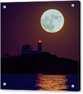 The Nubble And The Full Moon Acrylic Print