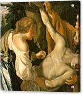 The Nursing Of Saint Sebastian Acrylic Print by Theodore van Baburen