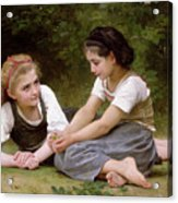The Nut Gatherers Acrylic Print by William-Adolphe Bouguereau