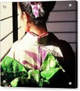 Green Obi At Sansui Restaurant Acrylic Print