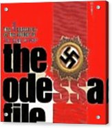 The Odessa File Frederick Forsyth Book Cover 1972 Color Added 2016 Acrylic Print