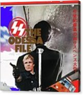 The Odessa File Jon Voight Foreign Theatrical Poster 1974 Color Added 2016 Acrylic Print