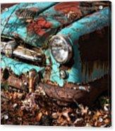 The Old Blue Car Acrylic Print