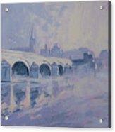 The Old Bridge In Morning Fog Maastricht Acrylic Print