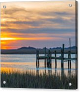 The Old Dock - Charleston Low Country Acrylic Print