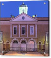 The Old Exchange And Provost Dungeon At Twilight Charleston South Carolina Acrylic Print
